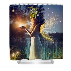 Nymph Of August Shower Curtain by Lilia D