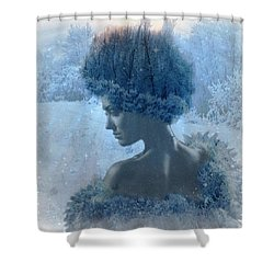 Nymph Of January Shower Curtain by Lilia D