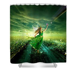 Nymph Of July Shower Curtain