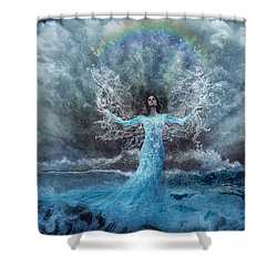 Nymph Of  The Water Shower Curtain by Lilia D