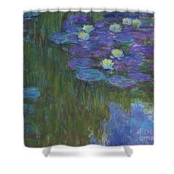 Nympheas En Fleur, 1914 To 1917  Shower Curtain