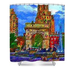 NYU Shower Curtain