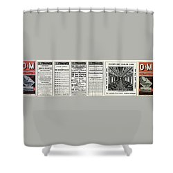 O And M Timetable Shower Curtain