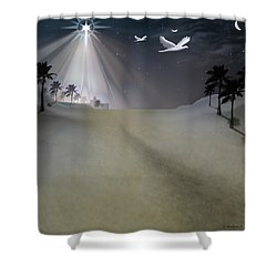 O Little Town Shower Curtain by Brian Wallace