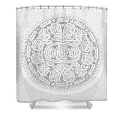 O R E O In White Shower Curtain by Rob Hans