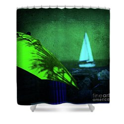 O Sole Mio Shower Curtain by Susanne Van Hulst