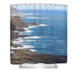 Oahu Coastline Shower Curtain