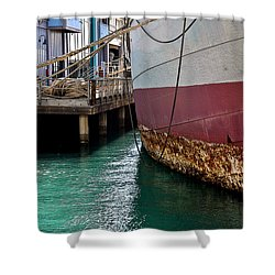 Shower Curtain featuring the photograph Oahu Harbor by Gina Savage