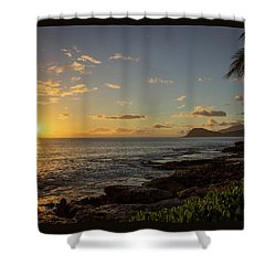 Shower Curtain featuring the photograph Oahu Sunset by RKAB Works