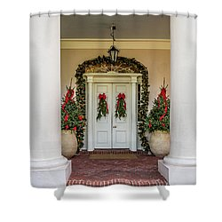 Shower Curtain featuring the photograph Oak Alley Plantation Doors by Paul Freidlund