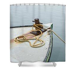 Oak Bluffs Fishing Boat Shower Curtain