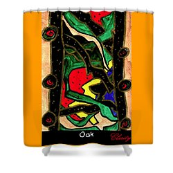 Shower Curtain featuring the painting Oak by Clarity Artists