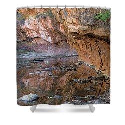 Shower Curtain featuring the photograph Oak Creek Reflections - Sedona, Az by Sandra Bronstein