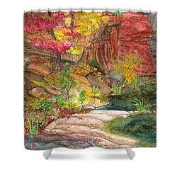Oak Creek West Fork Shower Curtain