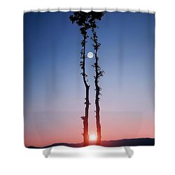 Oak Kissing Shower Curtain