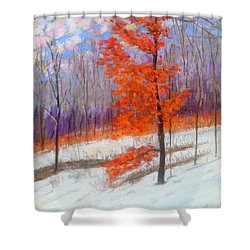 Oak Leaves In March Shower Curtain by Rae  Smith PAC