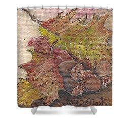 Oak Leaves Shower Curtain