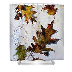 Oak Leaves Shower Curtain by Sandra Strohschein