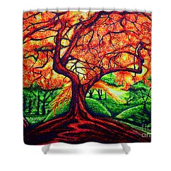 OAK Shower Curtain by Viktor Lazarev