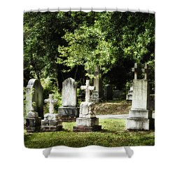 Oakdale Cemetery Shower Curtain by Denis Lemay