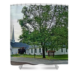 Shower Curtain featuring the photograph Oakland Christian Church by Cricket Hackmann