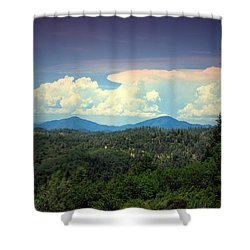 Oakrun Thunderstorm Shower Curtain by Joyce Dickens