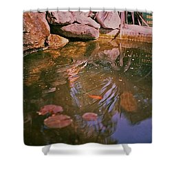 Oasis In The City Centre  Shower Curtain