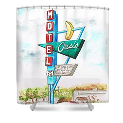 Oasis Motel In Route 66, Tulsa, Texas Shower Curtain