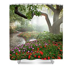 Shower Curtain featuring the photograph Oasis by Susan Cole Kelly