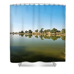 Shower Curtain featuring the photograph Oasis by Yew Kwang