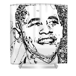 Shower Curtain featuring the digital art Obama by Rabi Khan