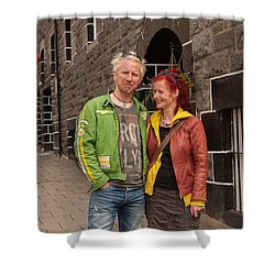Oban Tourists Shower Curtain