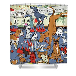 Obedience School Reunion Shower Curtain