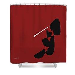 Obeo In Orange Red Shower Curtain
