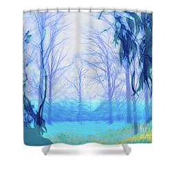 Oberlin Pacific Transition Shower Curtain