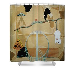 Objects Of Opposite Fit Shower Curtain