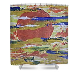 Obscure Orange Abstract Shower Curtain
