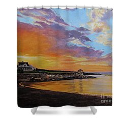 Observatory Point, Rockport, Ma Shower Curtain