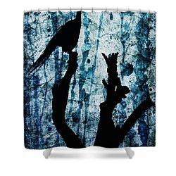Obsidian Realm Shower Curtain by Andrew Paranavitana