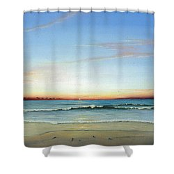 Obx Sunrise Shower Curtain by Albert Puskaric