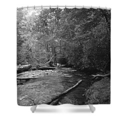 Ocanaluftee River - Great Smokey Mountains Shower Curtain