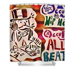 Occupy All Beats Shower Curtain by Tony B Conscious