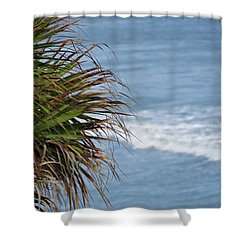 Ocean And Palm Leaves Shower Curtain