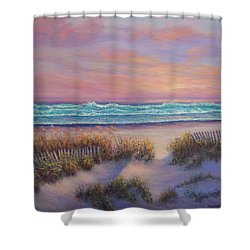 Ocean Beach Path Sunset Sand Dunes Shower Curtain