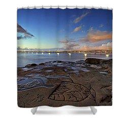 Ocean Beach Pier At Sunset, San Diego, California Shower Curtain