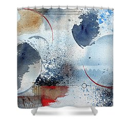 Ocean Blue Shower Curtain by Monte Toon