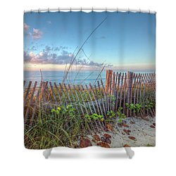 Shower Curtain featuring the photograph Ocean Blues by Debra and Dave Vanderlaan