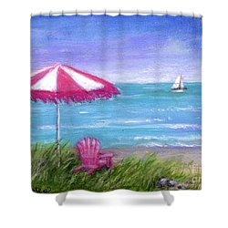 Shower Curtain featuring the painting Ocean Breeze by Sandra Estes