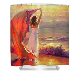 Shower Curtain featuring the painting Ocean Breeze by Steve Henderson