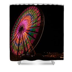 Ocean City Ferris Wheel 2 Shower Curtain